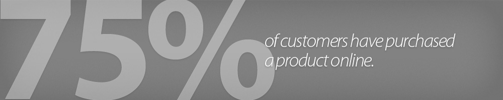 75% of customers have purchased a product online