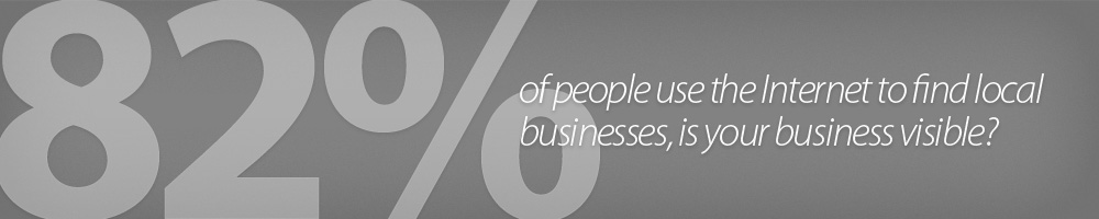 82% of people use the Internet to find local businesses, is your business visible?